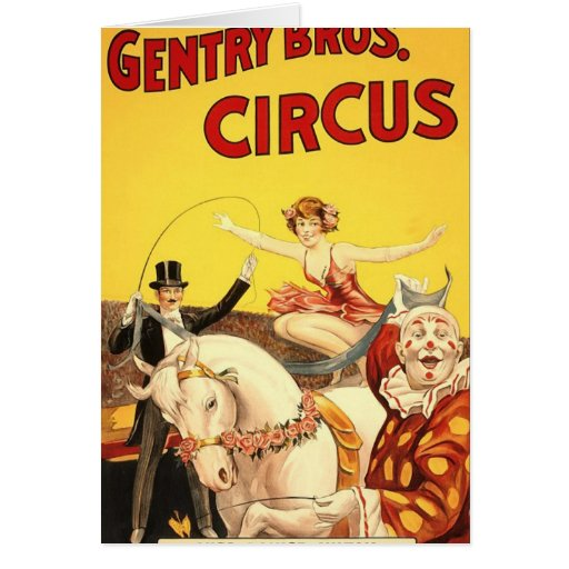 Gentry Bros. circus Miss Louise Hilton Card