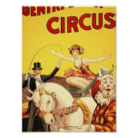 Gentry Bros. circus Miss Louise Hilton Poster