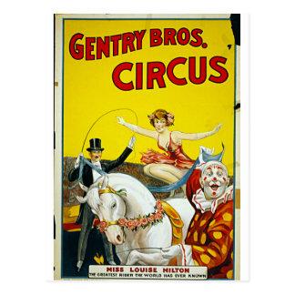 Gentry Bros. Circus Postcards