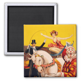 Gentry Bros. Circus Poster ft. Miss Louise Hilton Fridge Magnet