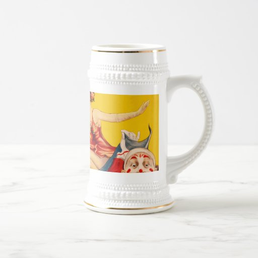Gentry Bros. Circus Poster ft. Miss Louise Hilton 18 Oz Beer Stein
