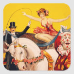 Gentry Bros. Circus Poster ft. Miss Louise Hilton Square Stickers