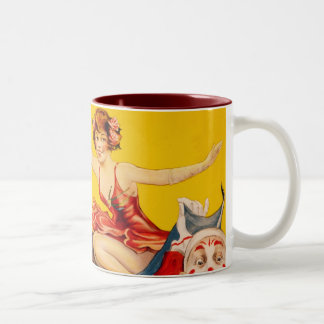Gentry Bros. Circus Poster ft. Miss Louise Hilton Two-Tone Coffee Mug