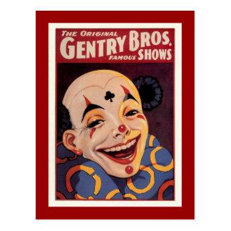 Gentry Bros. Vintage Circus Postcard