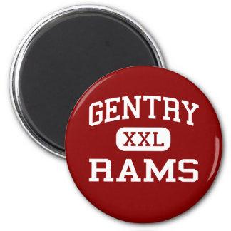 Gentry - Rams - High - Indianola Mississippi Refrigerator Magnet