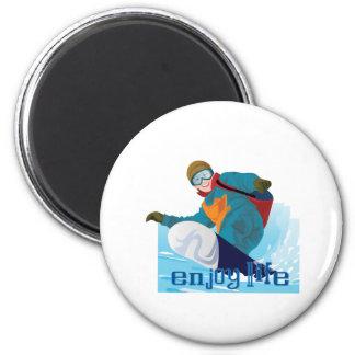 Gents- enjoy life 2 inch round magnet