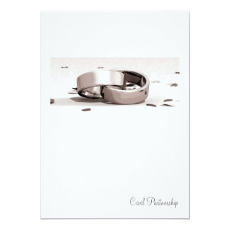 Gents Entwined Rings Blc- Civil Partnership Invite