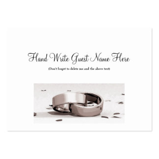 Gents Entwined Rings BLK - Place Cards Business Card Templates