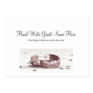 Gents Entwined Rings - Place Cards Business Card