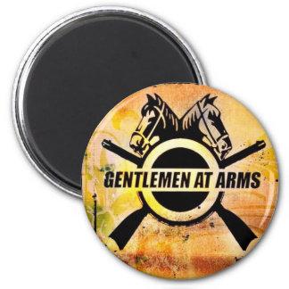 gents logo 2 inch round magnet