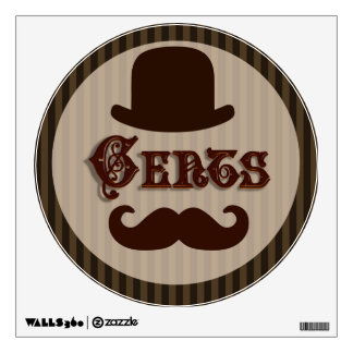 Gents Wall Decal