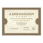 "Genuine Admission Ticket Invitations 5"" X 7"" Invitation Card"