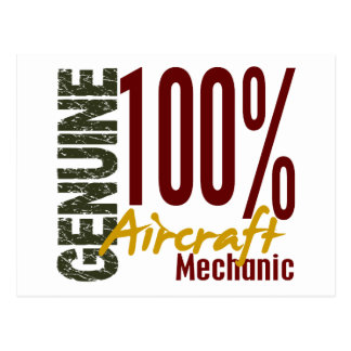Genuine Aircraft Mechanic Postcard