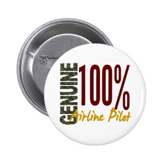 Genuine Airline Pilot Pinback Buttons