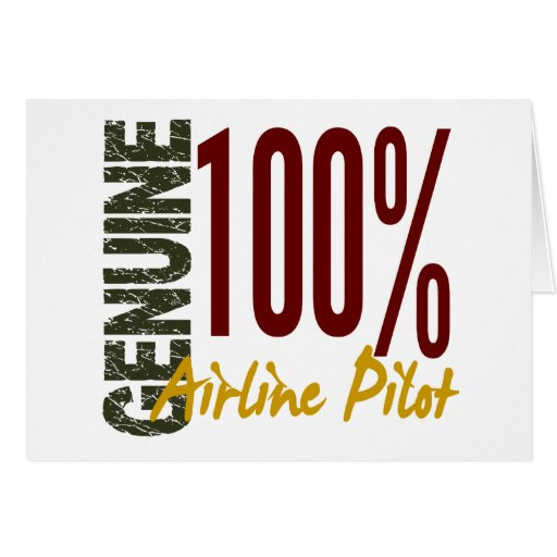 Genuine Airline Pilot Greeting Cards