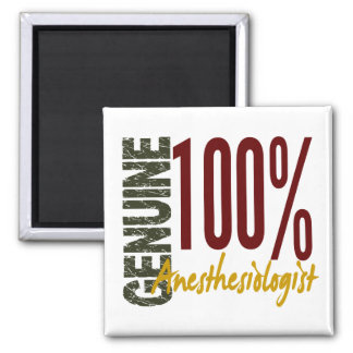 Genuine Anesthesiologist 2 Inch Square Magnet