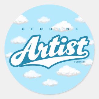 Genuine Artist - sticker (white/sky)