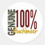Genuine Auctioneer Round Sticker