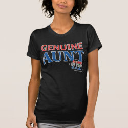 Women's American Apparel Fine Jersey Short Sleeve T-Shirt with Genuine Aunt USA design