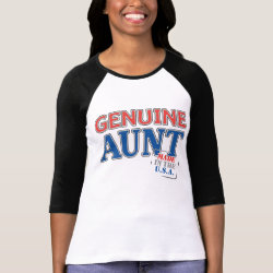 Ladies Raglan Fitted T-Shirt with Genuine Aunt USA design