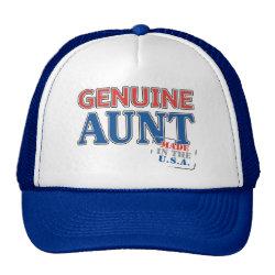 Trucker Hat with Genuine Aunt USA design