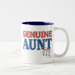 Two-Tone Mug with Genuine Aunt USA design