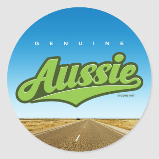 Genuine Aussie - sticker (green/outback)