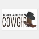Genuine Authentic COWGIRL Boot & Hat Rectangular Sticker