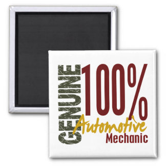 Genuine Automotive Mechanic 2 Inch Square Magnet