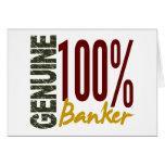 Genuine Banker Greeting Cards