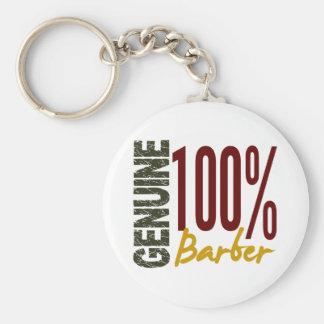 Genuine Barber Basic Round Button Keychain