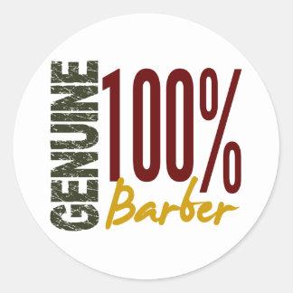 Genuine Barber Round Stickers