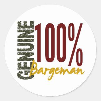 Genuine Bargeman Round Sticker