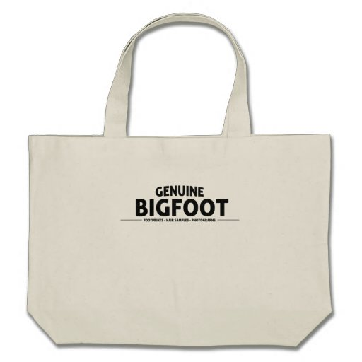 Genuine Bigfoot Tote Bags