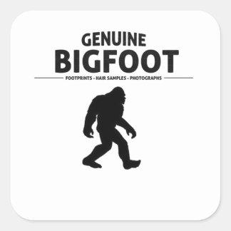 Genuine Bigfoot Square Sticker