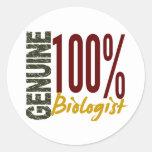 Genuine Biologist Round Sticker