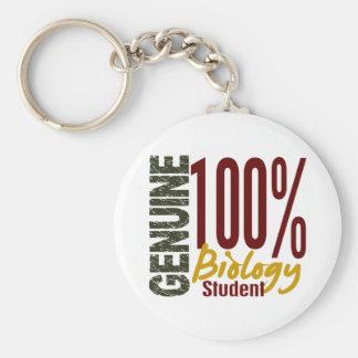 Genuine Biology Student Basic Round Button Keychain