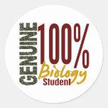 Genuine Biology Student Round Sticker