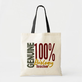 Genuine Biology Teacher Budget Tote Bag