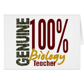 Genuine Biology Teacher Card