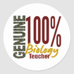 Genuine Biology Teacher Sticker