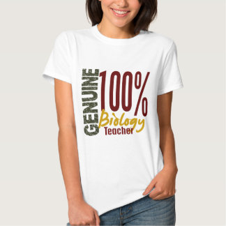 Genuine Biology Teacher T Shirt