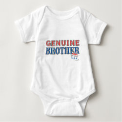 Baby Jersey Bodysuit with Genuine Brother: Made in the U.S.A. design