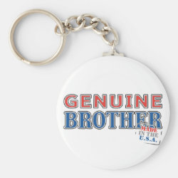 Basic Button Keychain with Genuine Brother: Made in the U.S.A. design