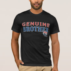 Men's Basic American Apparel T-Shirt with Genuine Brother: Made in the U.S.A. design