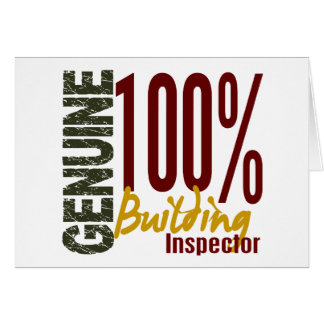 Genuine Building Inspector Greeting Cards