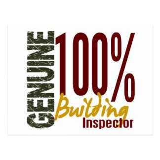 Genuine Building Inspector Postcard