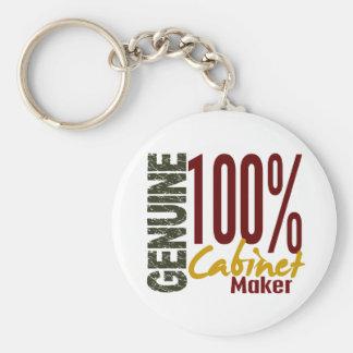Genuine Cabinet Maker Basic Round Button Keychain