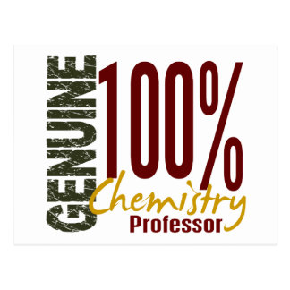 Genuine Chemistry Professor Postcard