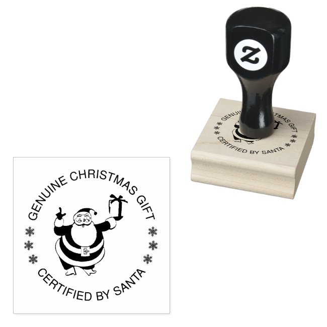 Genuine Christmas Gift Certified By Santa funny